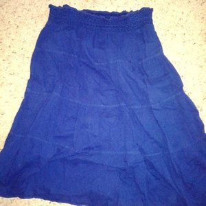 Old Navy Long Blue Ruffle Skirt